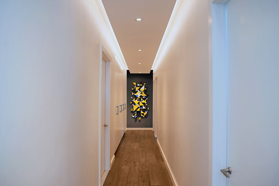 downtown loft - hallway art